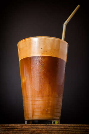 Refreshing cold frappe coffee  Stock Photo