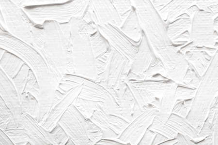abstract paintings: Abstract paintings of white colors, embossed decoration Stock Photo