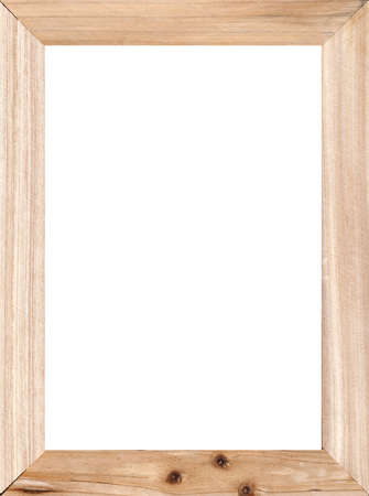 wooden frame: Wooden frame with white blank space Stock Photo