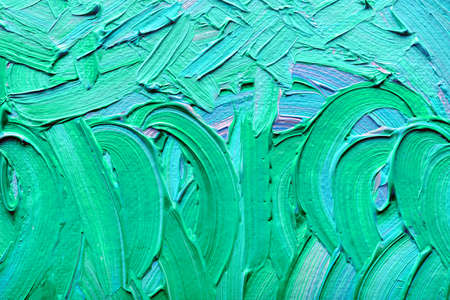 abstract paintings: Abstract paintings of green-blue colors embossed decoration