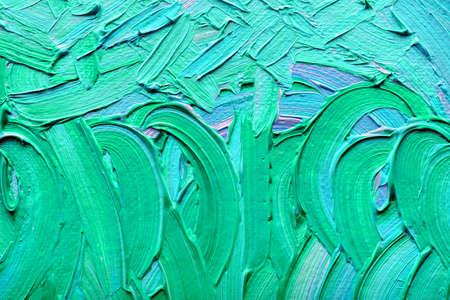 cuadros abstractos: Pinturas abstractas de colores verde-azul en relieve decoraci�n