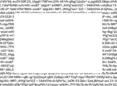 Unsinn: Kauderwelsch Dokument, bedeutungslos durch eine fehlerhafte Software mit wei�en leere Rechteck produziert Computerausdruck Lizenzfreie Bilder