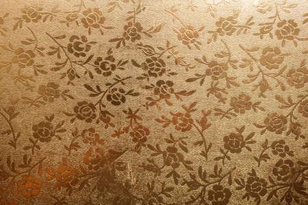 abstracto: Floral vintage flyleaf in old book