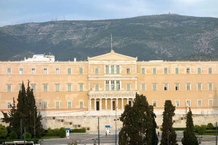 syntagma: The greek Parliament Building situated at the Syntagma Square. It was built between 1836 and 1842 as the royal palace for king Otto I.  Editorial