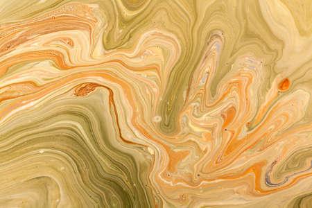 古い大理石のテクスチャ技術。手作りの大理石模様にされた効果とアクリル塗料します。 写真素材