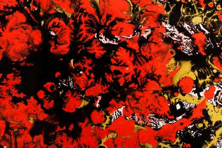 marbled effect: Antiguo m�rmol textura t�cnica de papel. Efecto marmolado a mano con pinturas acr�licas Foto de archivo