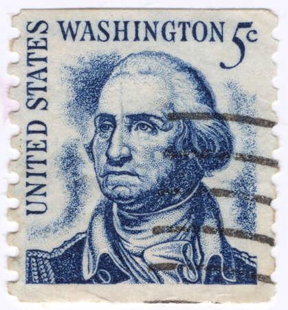 USA - CIRCA 1930: A stamp printed in USA shows Portrait President George Washington circa 1930.