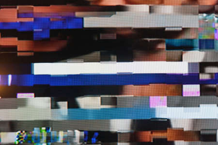 悪い信号受信による静的なノイズとテレビの画面