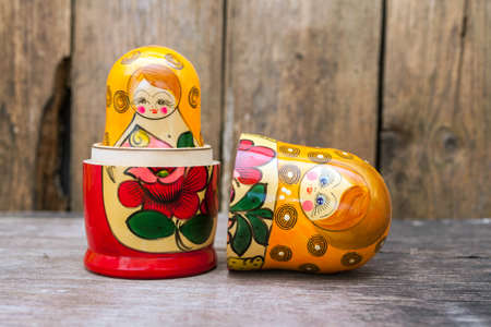 Russian nesting dolls ( babushkas or matryoshkas )
