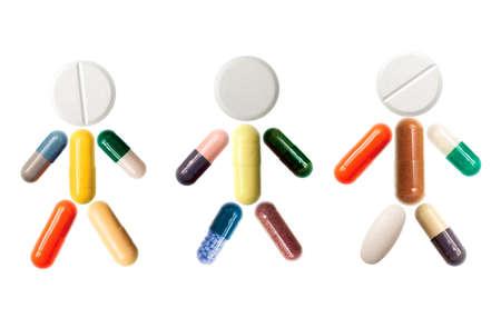Close-up of pills and capsules representing human photo