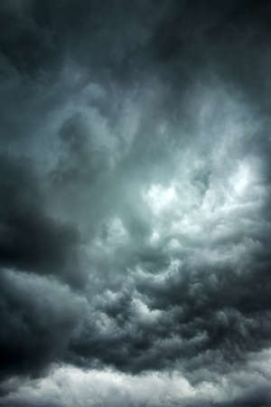 stormy sky: Dark clouds across the sky before heavy rain