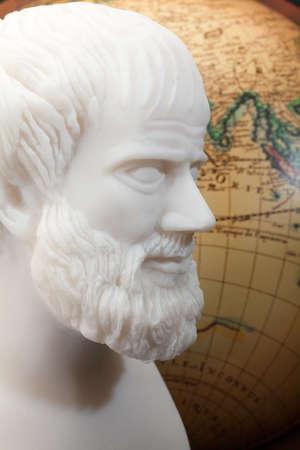 Greek philosopher Aristotle (384–322 B.C.E.) sculpture