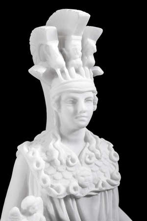 Athena the ancient Greek goddess of wisdom and science, isolated on black background photo