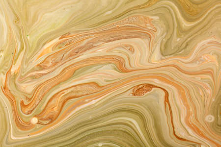 Old marbled paper technique texture. Handmade marbleized effect with acrylic paints