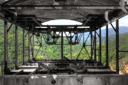 classifier: Old abandoned mining factory unit processing lead-zinc