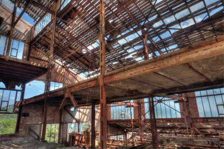 classifier: Old abandoned mining factory unit processing lead-zinc