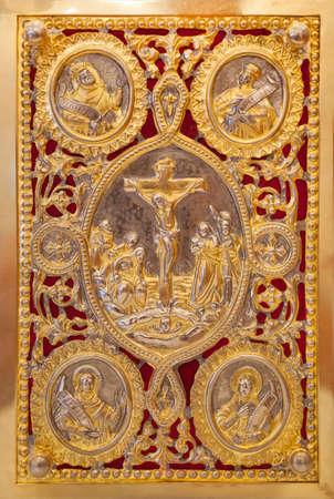 Het Evangelie Boek, Evangelion, of Boek van de evangeliën Stockfoto