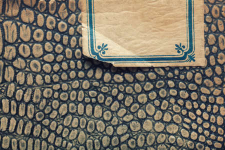 imitation leather: Old book cover, vintage texture with imitation leather Stock Photo
