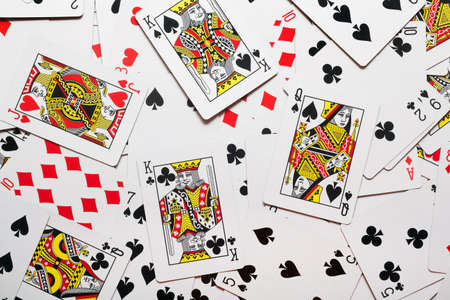jack of diamonds: Background made of playing cards