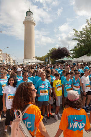 local 27: GREECE, ALEXANDROUPOLIS - SEPTEMBER 27, 2015: Competitors run during the second edition of the Run Greece. Organizers are Segas, Wind and the local administration.