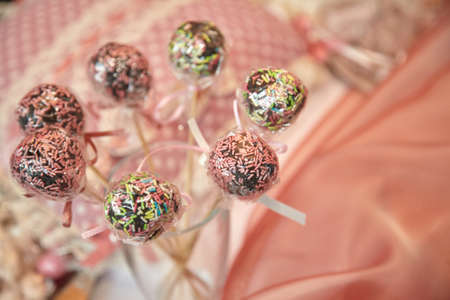 favor: Different colored baptism candy favor
