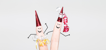 Dancing fingers on a party Stock Photo