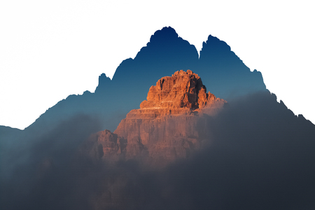 Dolomites. Rocks. Sunset. italy