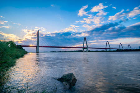 The Nhat Tan Bridge is a cable-stayed bridge crossing the Red River in Hanoi, inaugurated on January 4, 2015. Nhat Tan Bridge was designed and built to become a new icon of the capital
