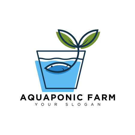 aquaponic logo, modern and simple