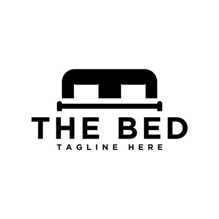 simple bed logo design