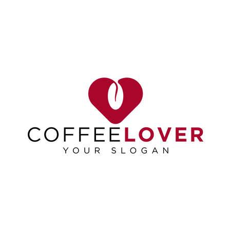 coffee lover logo design idea