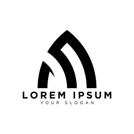 simple abstract dome logo design idea Ilustracja