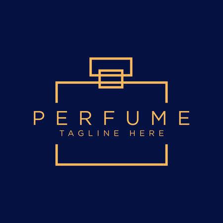 simple outline perfume logo design
