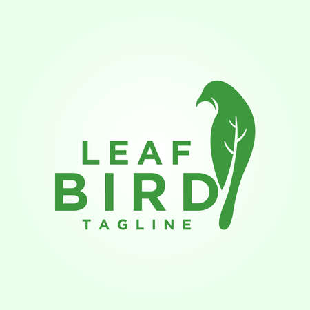 bird and leaf logo design inspirations