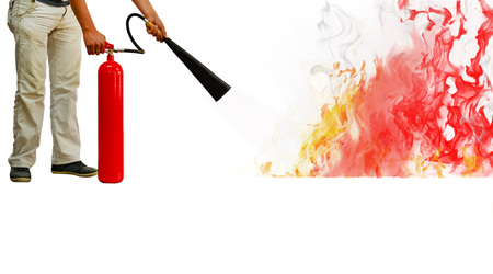 fire extinguisher - Stock Image