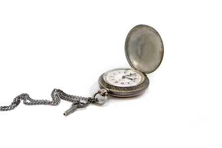 seconds: Old vintage pocket watch Stock Photo