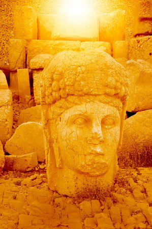 human likeness: Mount Nemrut is the head of the statues. The UNESCO World Heritage Site at Mount Nemrut where King Antiochus of Commagene is reputedly entombed.