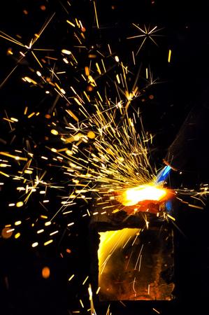 Oxy acetylene welding Stock Photo