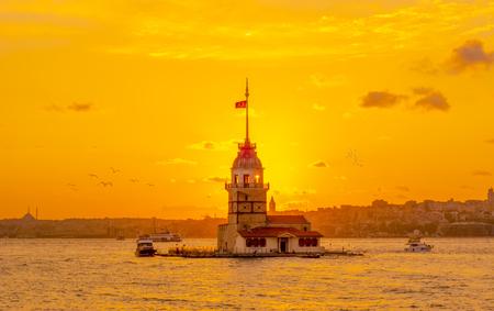 Maiden's Tower in Istanbul, Turkey (KIZ KULESI)
