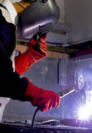 Combining metals with welding method