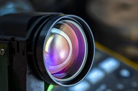 gros plan de l'objectif de la caméra, arrière-plan de l'objectif de la caméra