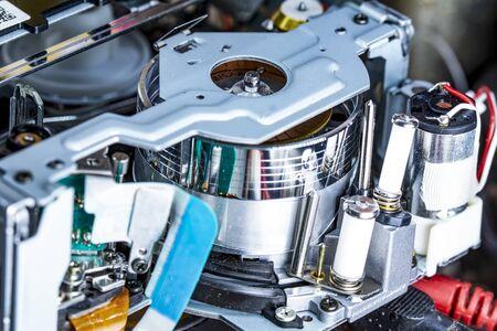 Video cassette player interor mechanism