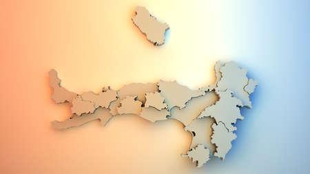 Italy map Stock Photo