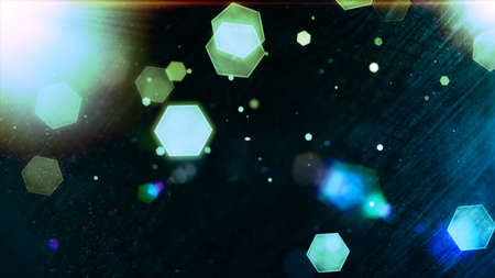 vibrant background: Glowing hexagons, bokeh, cool abstract hexagons, vibrant background