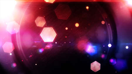 Glowing hexagons, bokeh, cool abstract hexagons, vibrant background