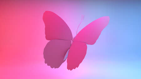 Butterfly, great texture. Background. Computer graphics mad, illustration.