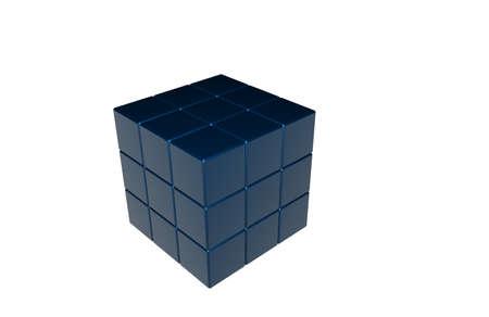 blue magic cube photo