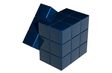 blue magic cube Stock Photo - 25895259