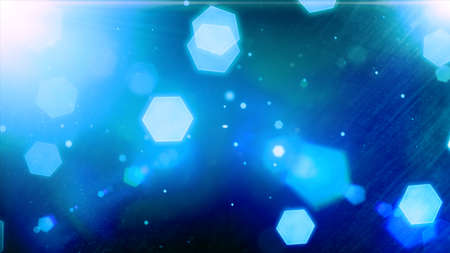 hexagon background: Glowing hexagons, bokeh, cool abstract hexagons, vibrant background
