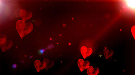 vibrant background: Glowing hearts bokeh, cool abstract hexagons, vibrant background Glowing hearts bokeh, cool abstract hexagons, vibrant background